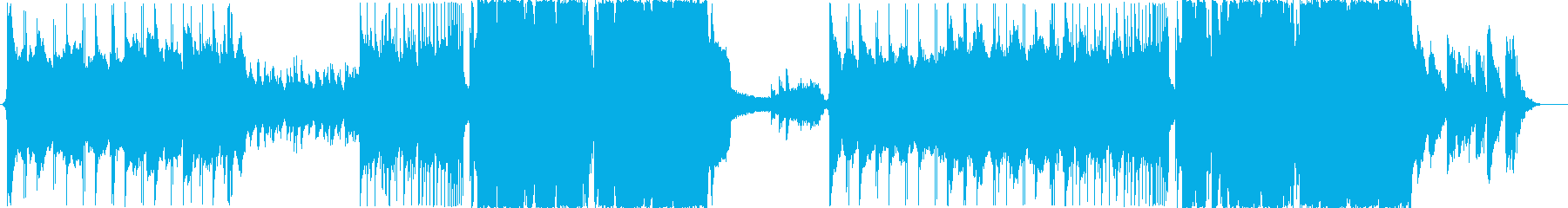 冷たい感じのエピックEDM調BGMの再生済みの波形
