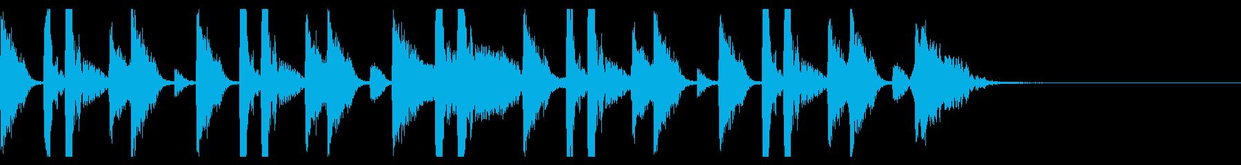 聴いたことある洋楽ドラムの音の再生済みの波形