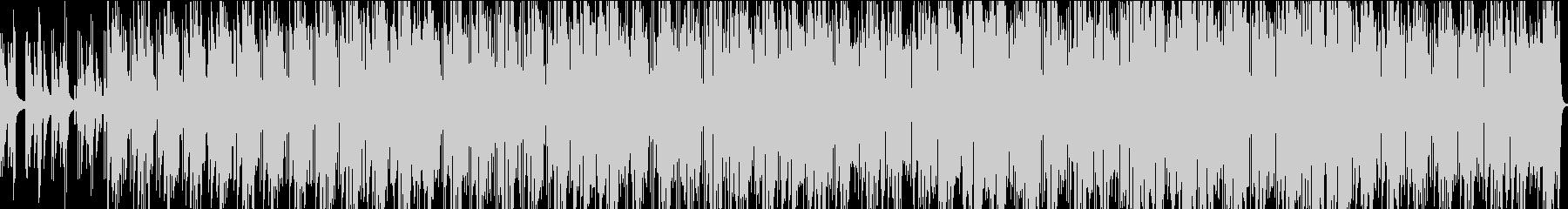 ノリの良いキーボードとサックスの曲の未再生の波形
