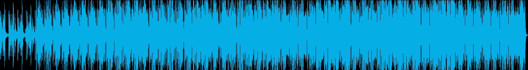 ノリの良いキーボードとサックスの曲の再生済みの波形