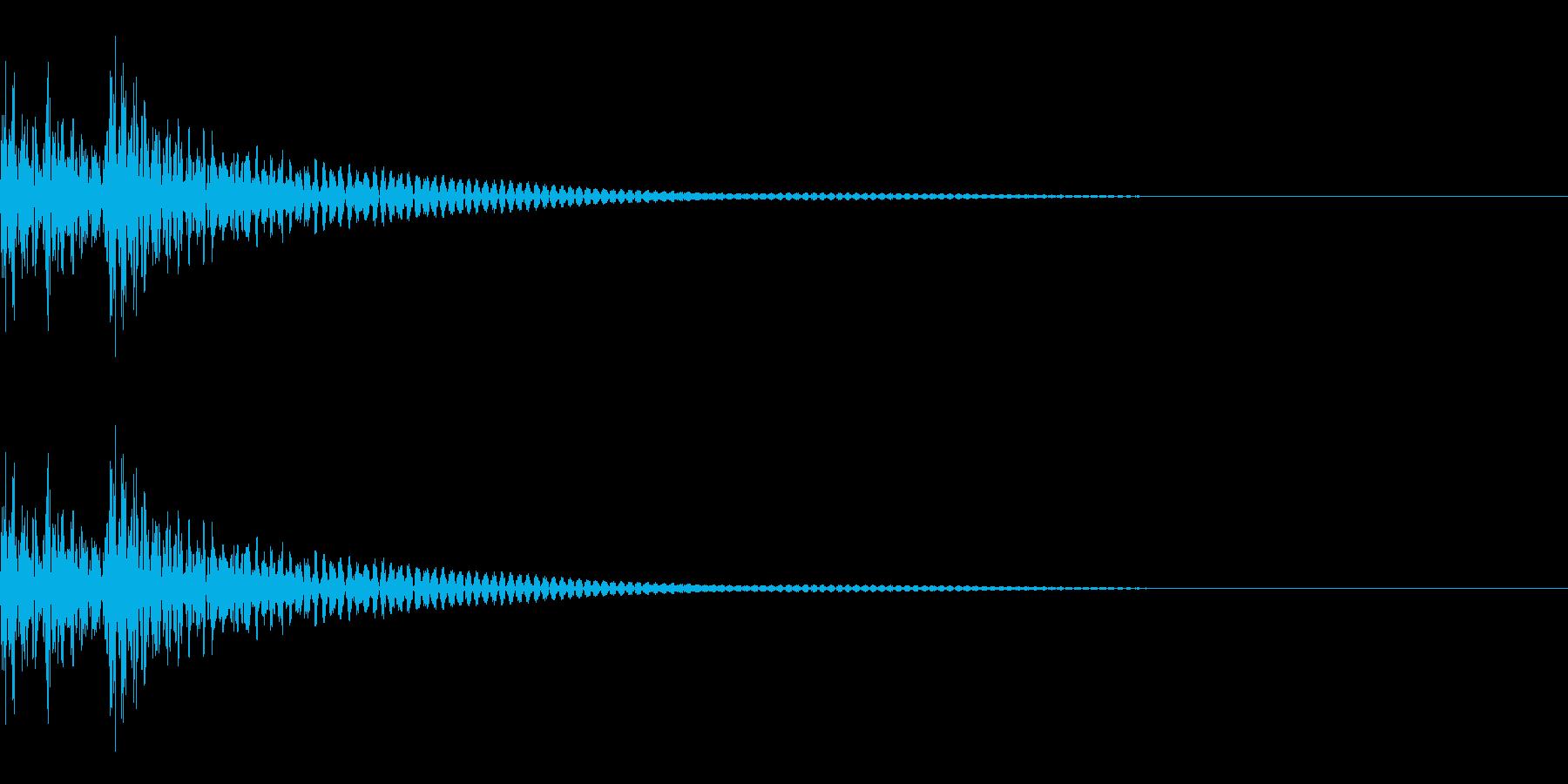 大太鼓 ドドドン 遅めの再生済みの波形