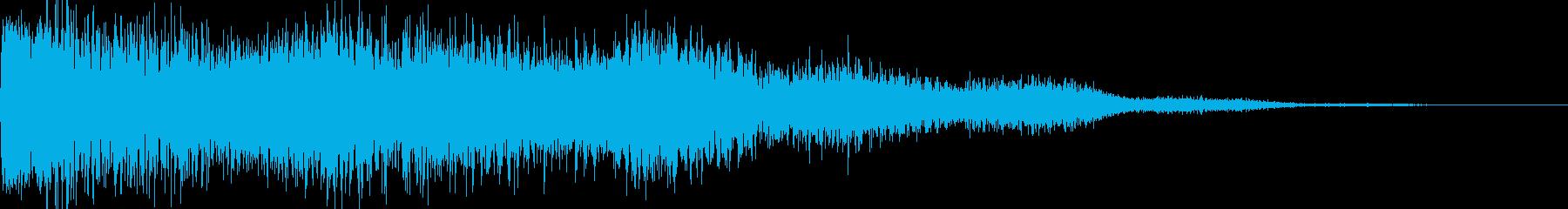 ロケット発射音、爆発音の再生済みの波形