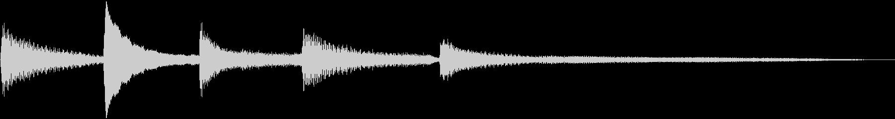 しっとり落ち着いたピアノのジングル10秒の未再生の波形