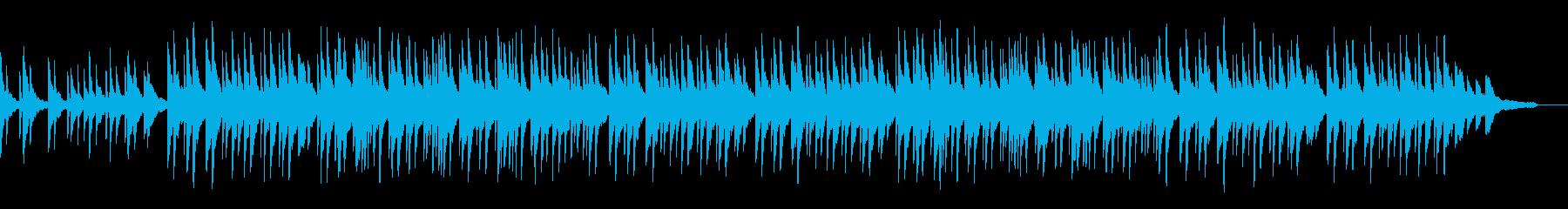 スローテンポのピアノソロ曲の再生済みの波形