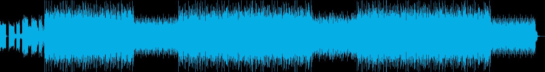 シンセサイザーを使った近未来的なBGMの再生済みの波形