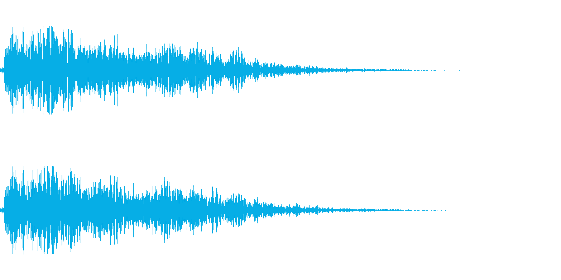 [ドゴーン]拳で殴る・打撃(大)の再生済みの波形