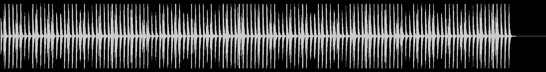ほのぼの日常系の明るいピアノの未再生の波形