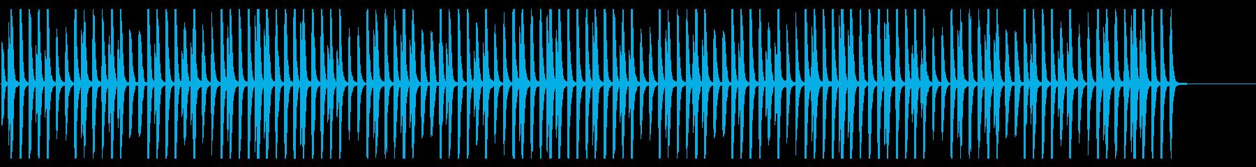 ほのぼの日常系の明るいピアノの再生済みの波形
