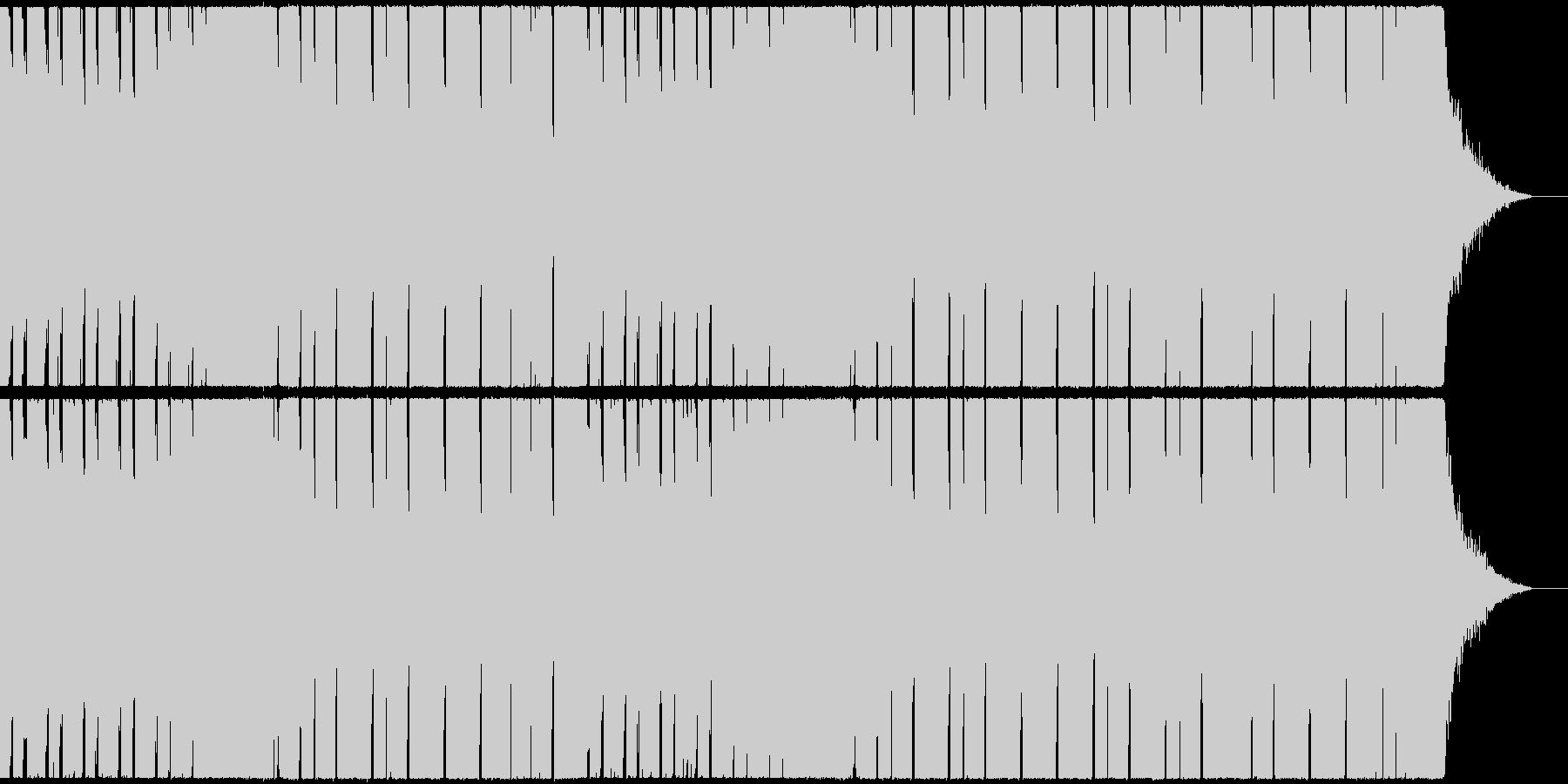 軽快で弾むようなシンセのポップなEDMの未再生の波形
