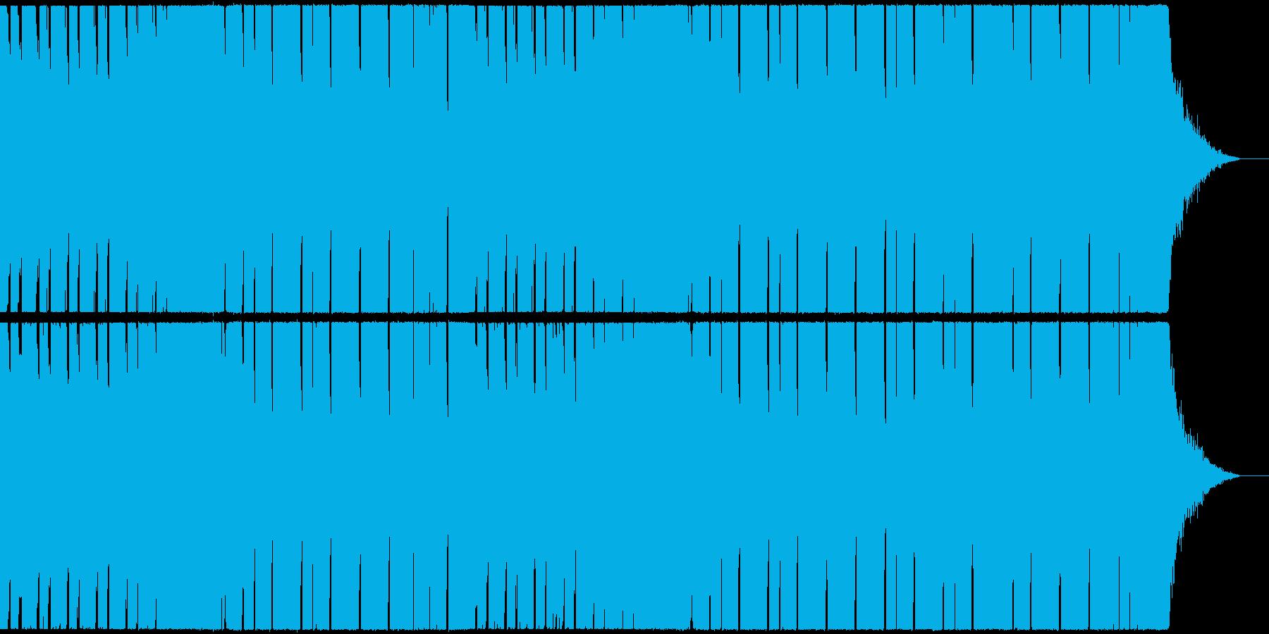軽快で弾むようなシンセのポップなEDMの再生済みの波形