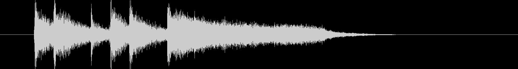 伸びやかなエレクトーンが印象的なBGMの未再生の波形