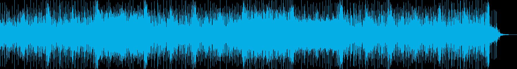 切ない感じのテクノポップBGMの再生済みの波形