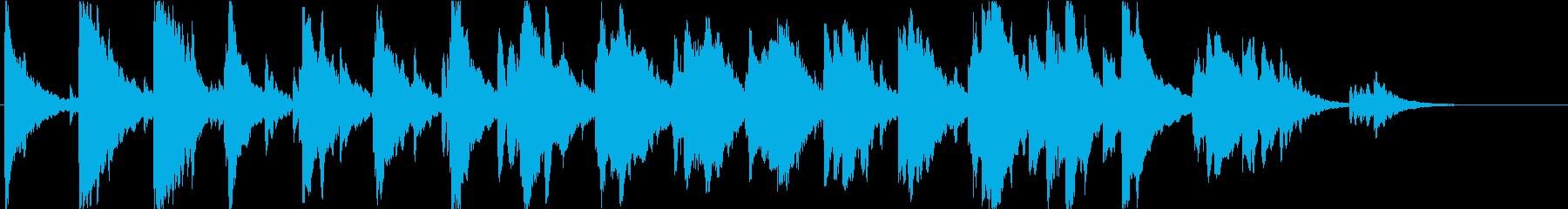 星空のような、ピアノとオルゴールの楽曲の再生済みの波形