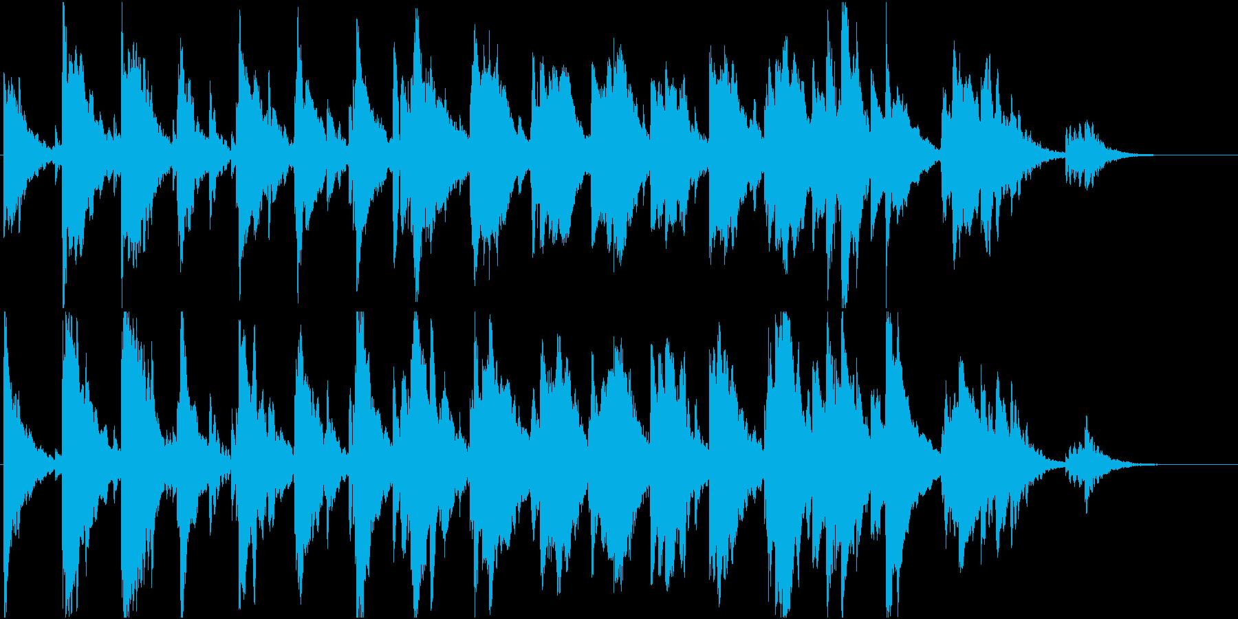 幻想的で可愛いピアノとオルゴールの楽曲の再生済みの波形