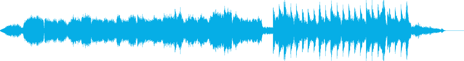 チェロとハープのシリアスな小編成オケの再生済みの波形