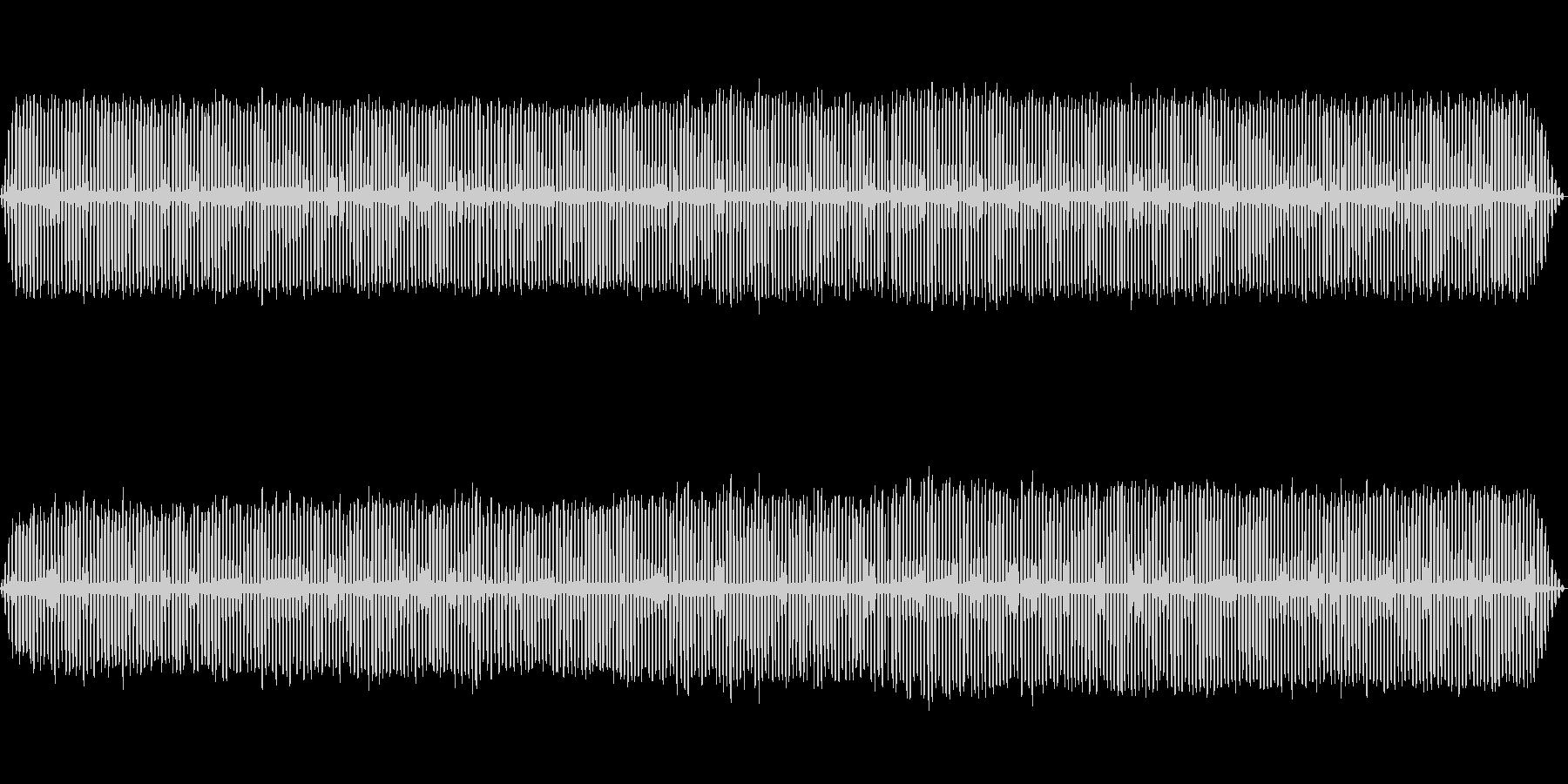 夏夜のコオロギの鳴き声と水の音の未再生の波形