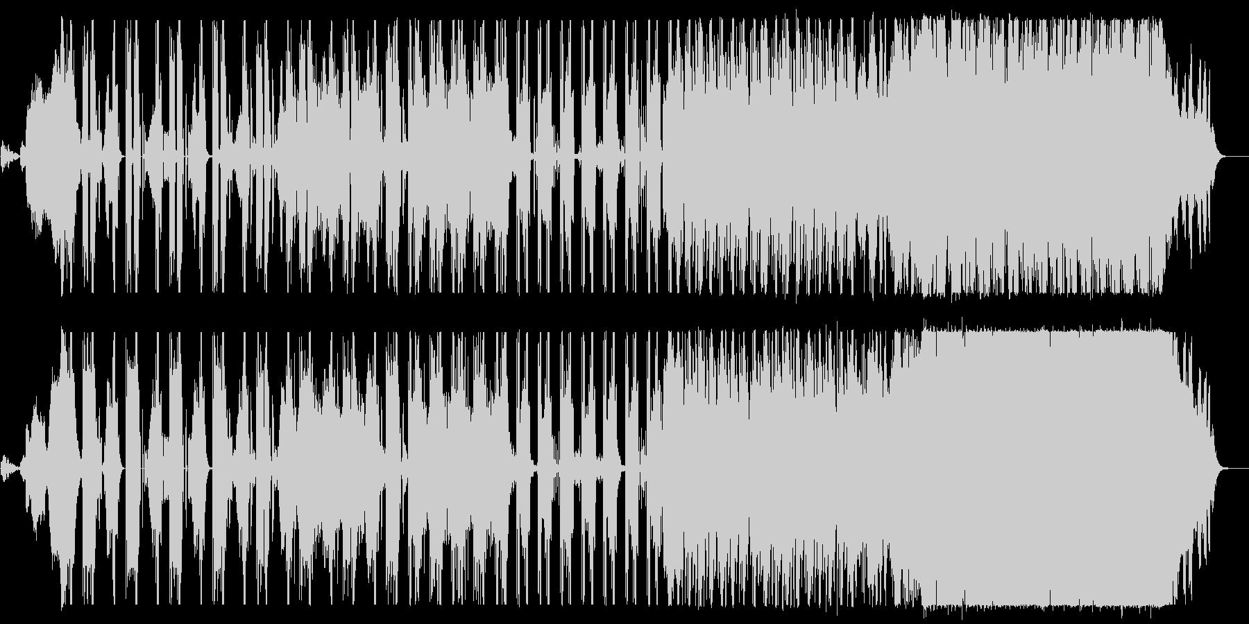 怪しく不気味な雰囲気のエレクトロロックの未再生の波形