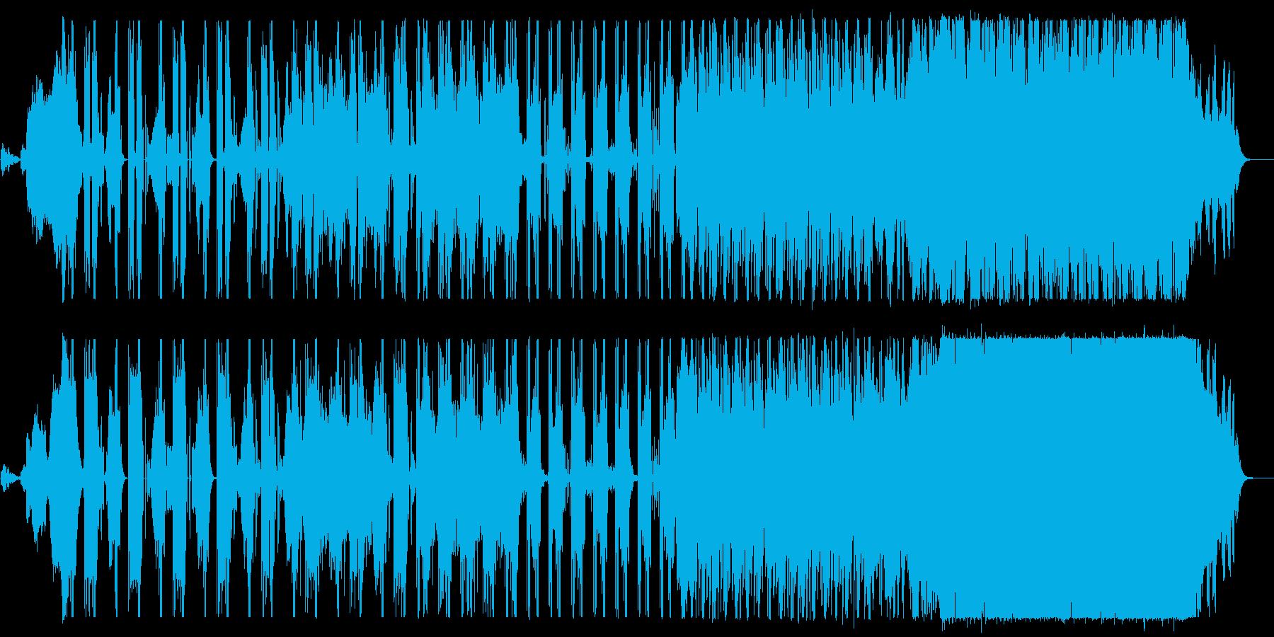 怪しく不気味な雰囲気のエレクトロロックの再生済みの波形
