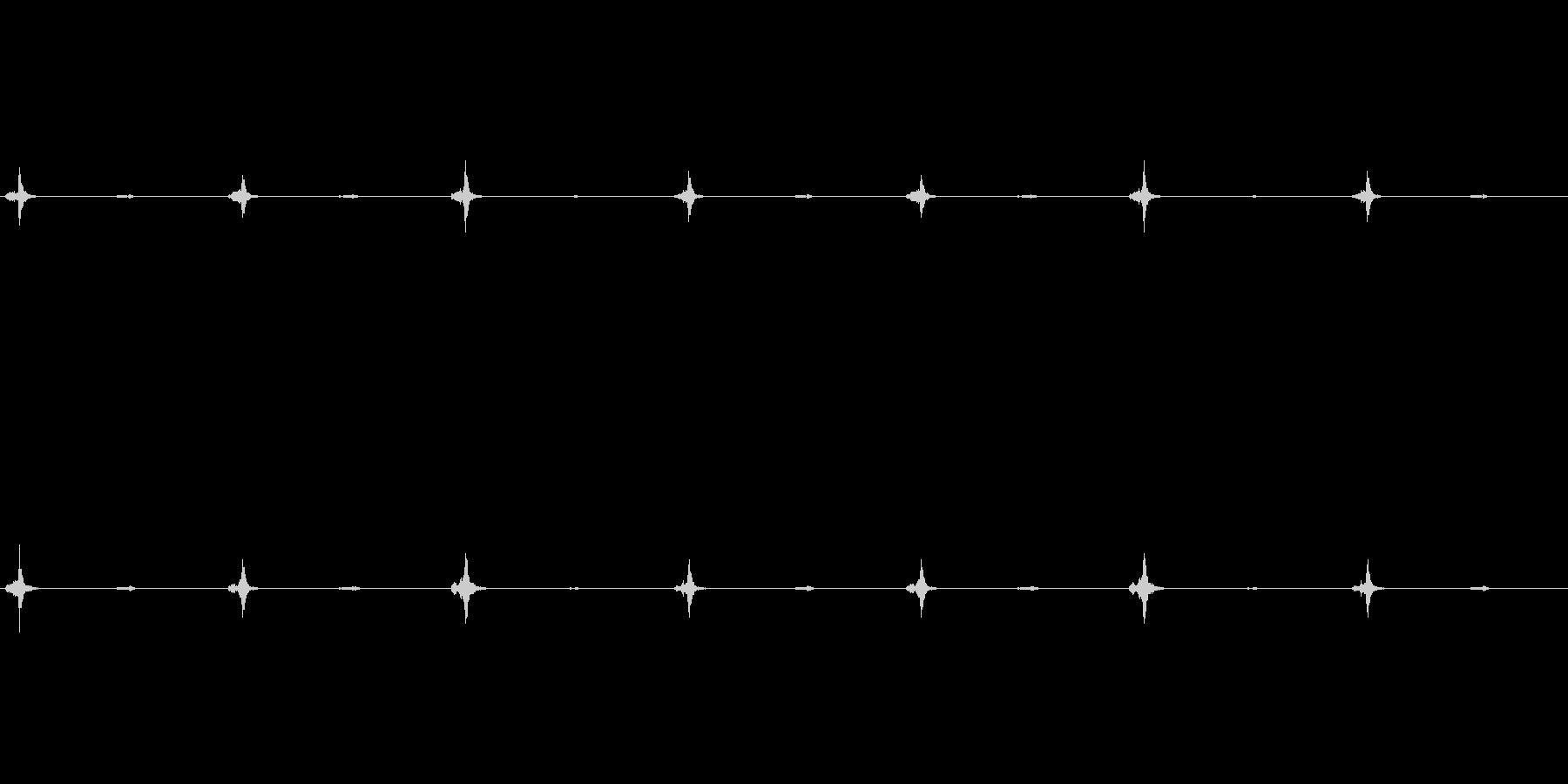 チクタク…時計の音2の未再生の波形