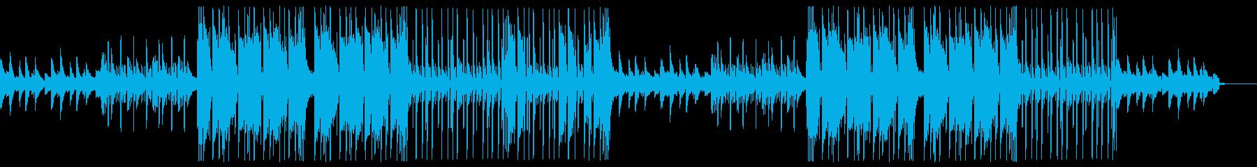 ダークなピアノとギターのトラップビートの再生済みの波形
