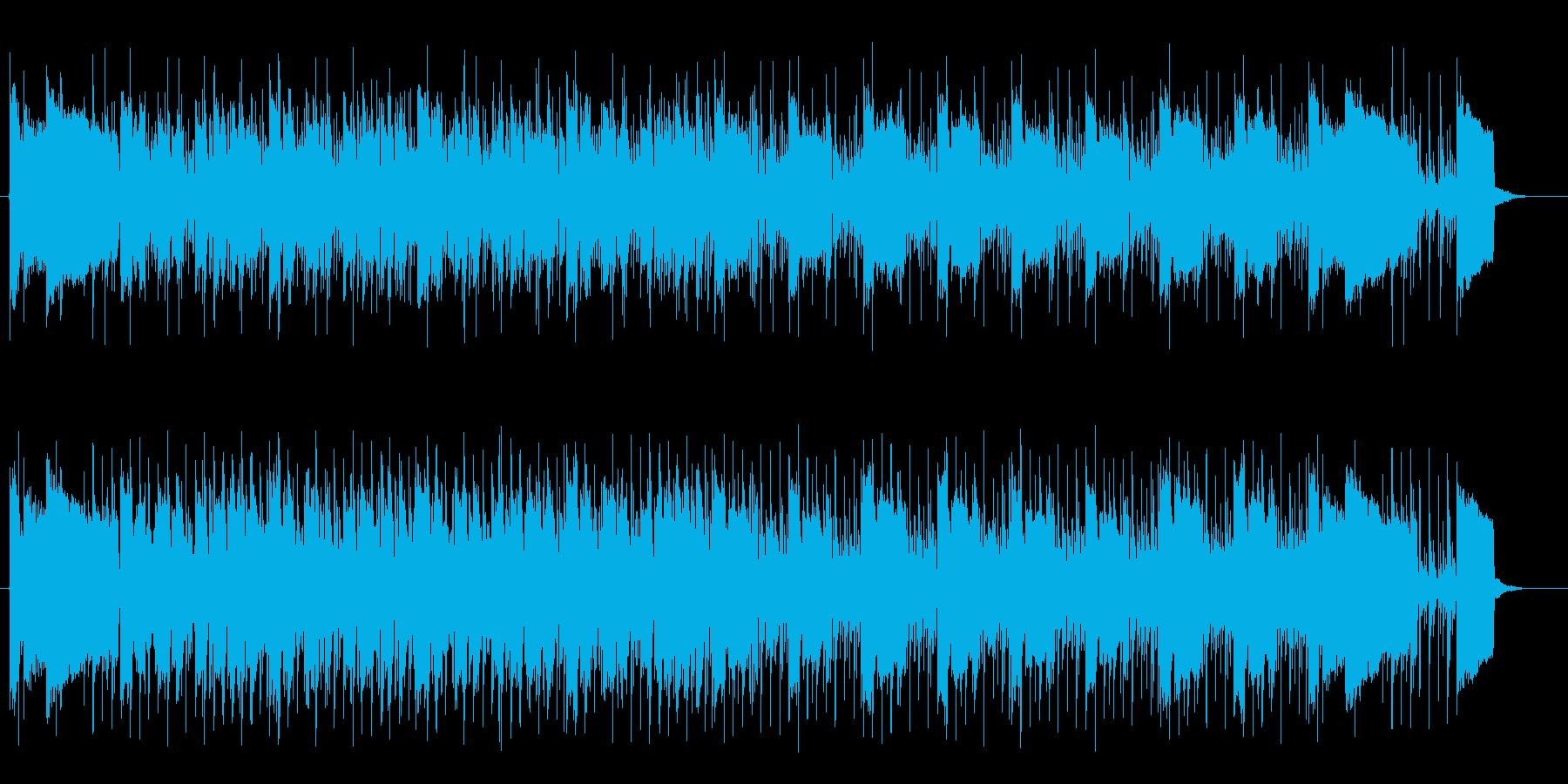 近未来や宇宙感のあるシンセサウンドの再生済みの波形