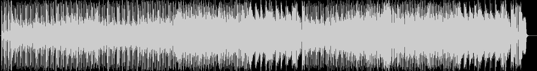 躍動感のあるシンセサイザーサウンドの未再生の波形