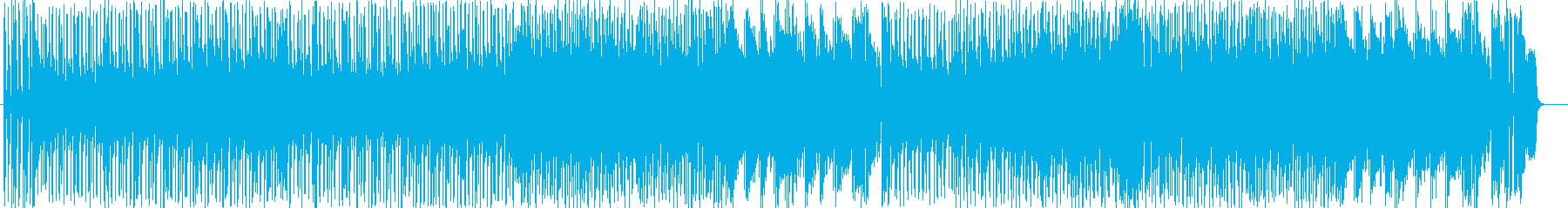 躍動感のあるシンセサイザーサウンドの再生済みの波形