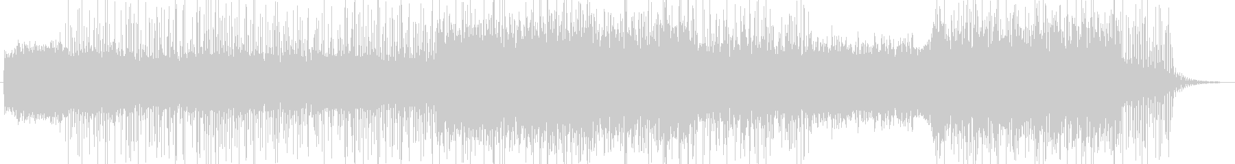 浸透感と反響感のデジタルループ系BGMの未再生の波形