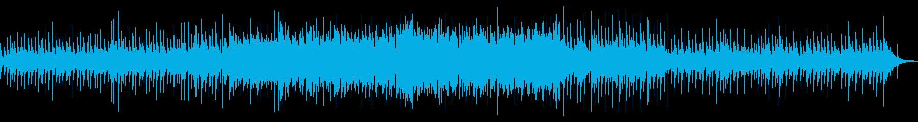 穏やかに流れる時間を表現した和風楽曲の再生済みの波形