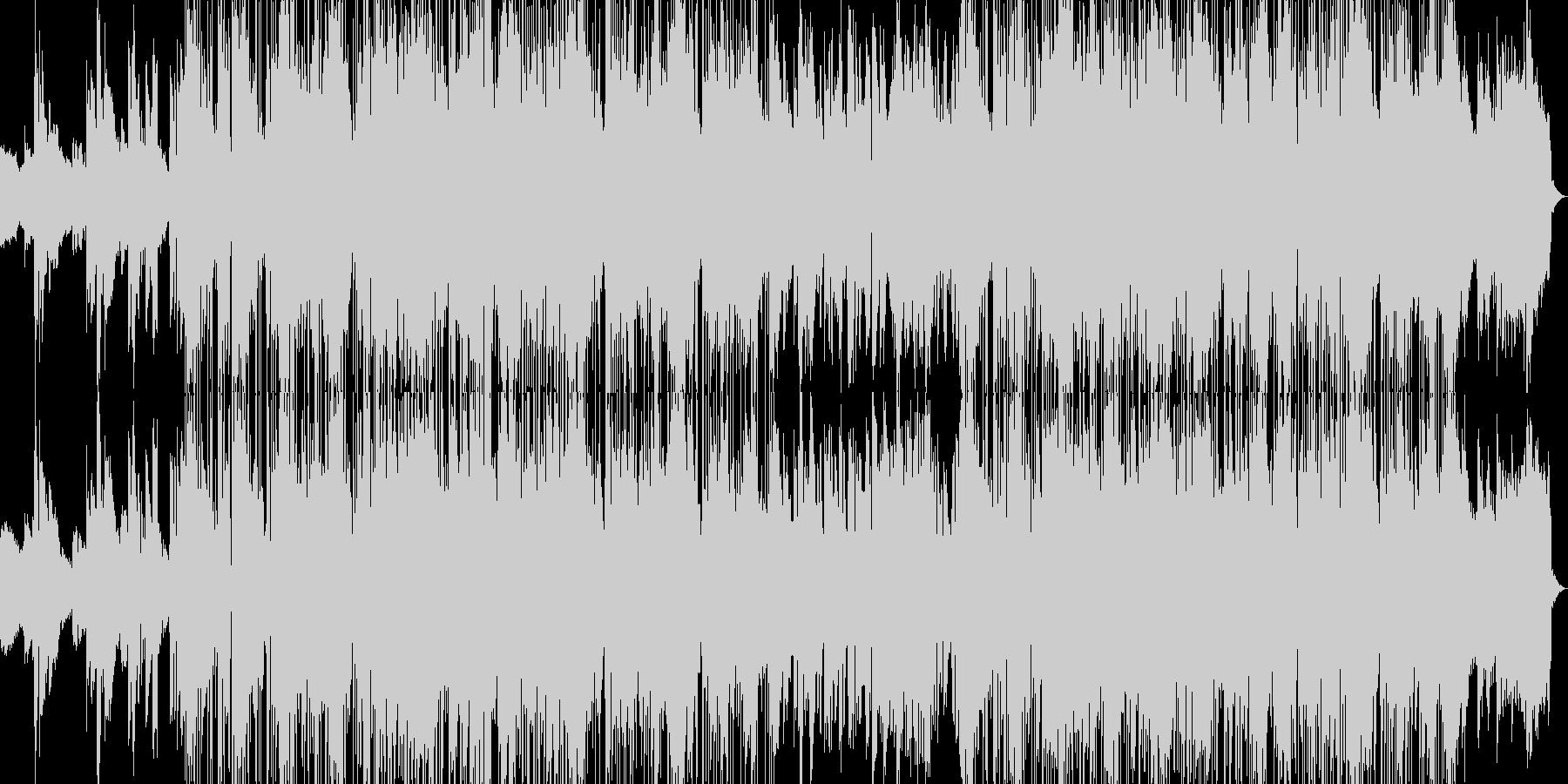 クールで爽やかな大人ジャズファンクの未再生の波形