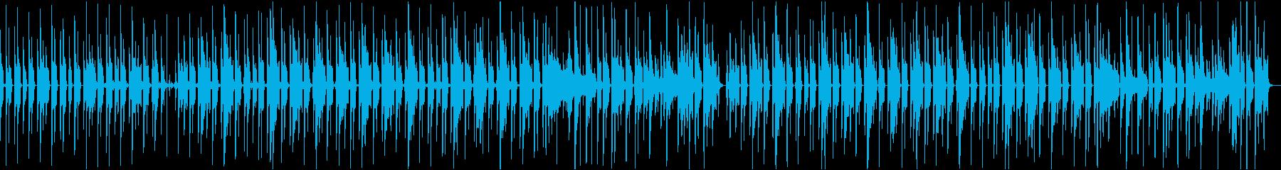 平凡な日常シーンで流れる曲の再生済みの波形