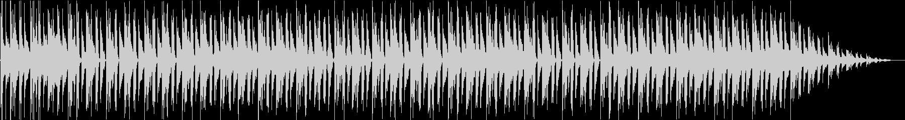 b)ラジオ風 古き良き時代のピアノビートの未再生の波形