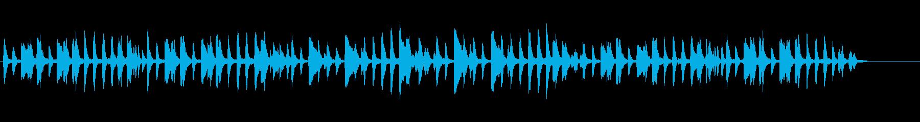 クラシックピアノ「木の兵隊」の再生済みの波形