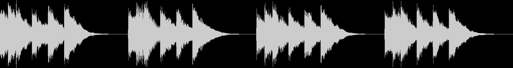 シンプル ベル 着信音 チャイム A-2の未再生の波形