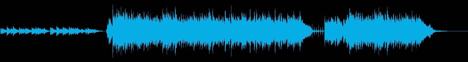 ピアノとアコギの優しいBGMの再生済みの波形