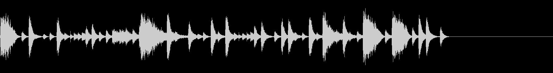 生ドラム_4小節ハイハットワークの未再生の波形