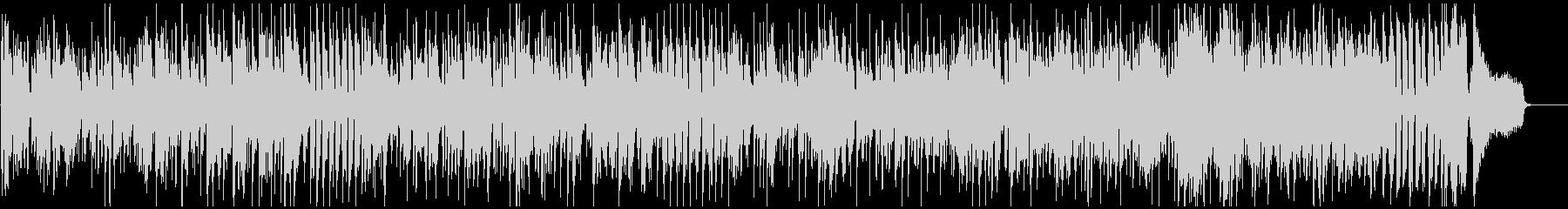 明るい爽快なジャズファンク、低音サックスの未再生の波形