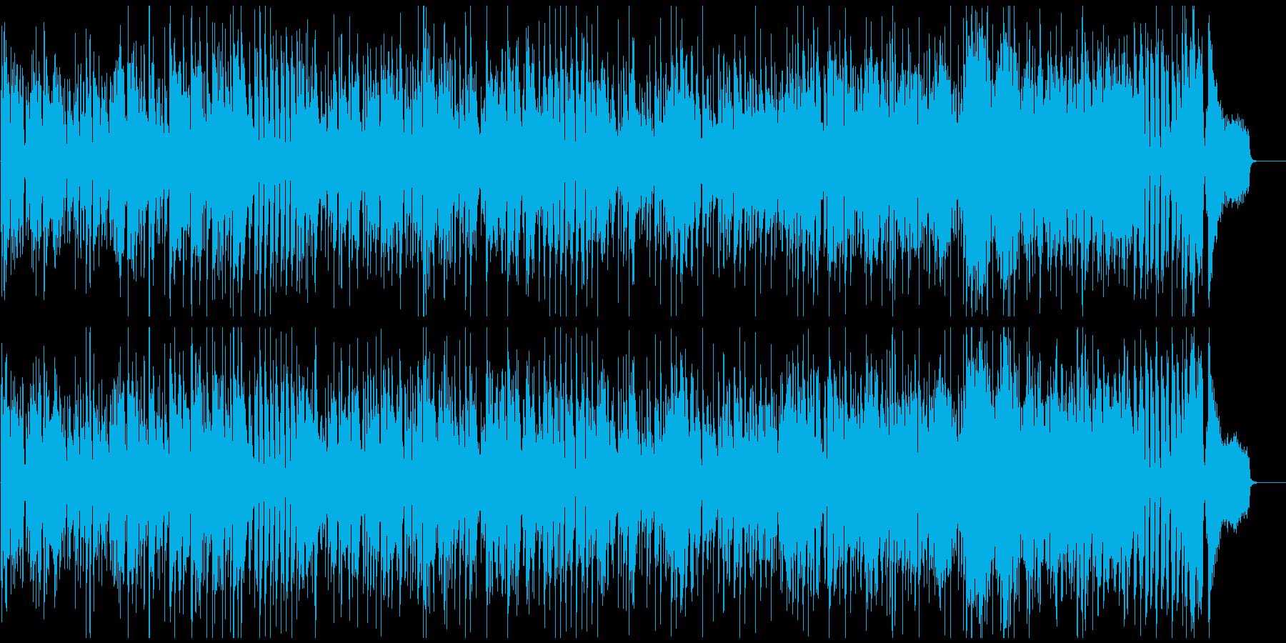 明るい爽快なジャズファンク、低音サックスの再生済みの波形