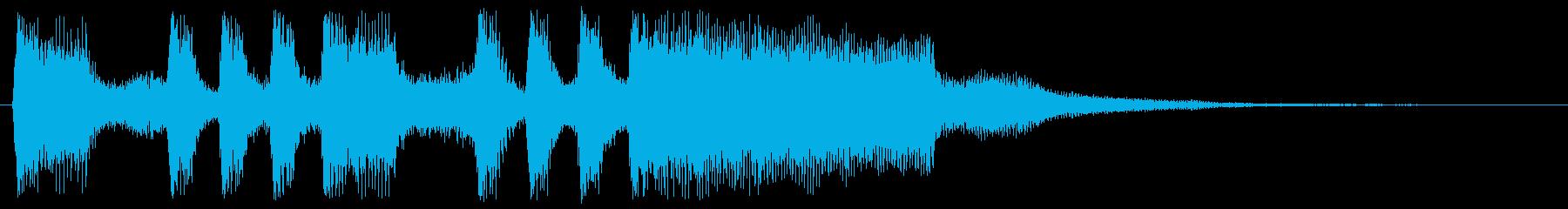 8bitなゲームクリア 達成 勝利の再生済みの波形