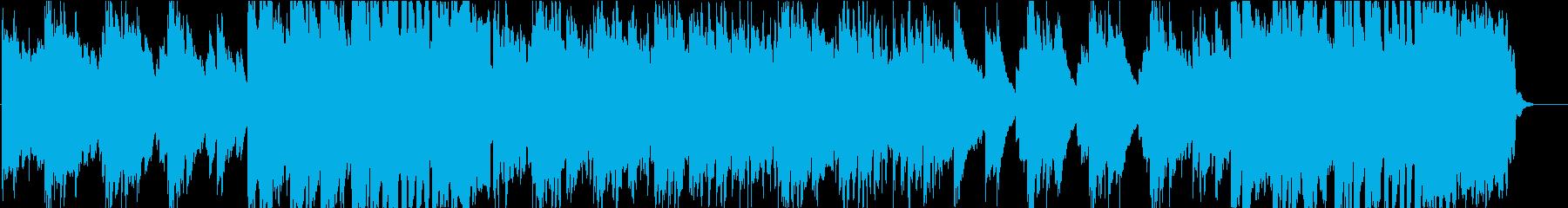 壮大で爽やかな感動的フューチャーポップの再生済みの波形