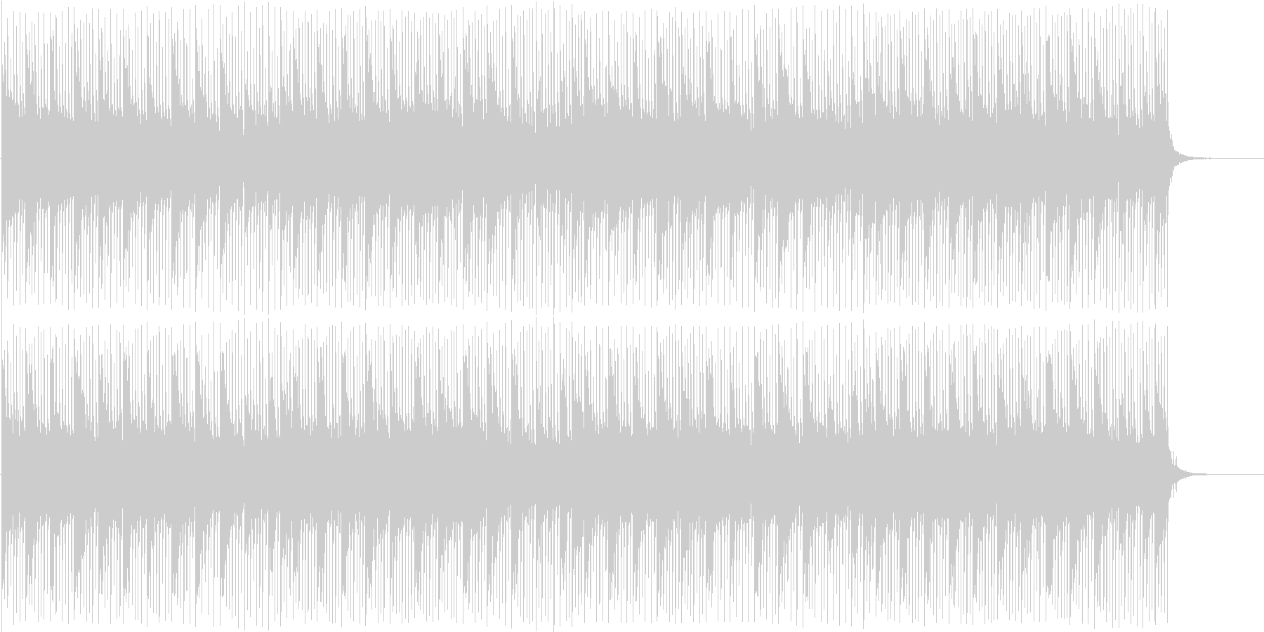 映像向け 軽快な感じのエレクトロの未再生の波形