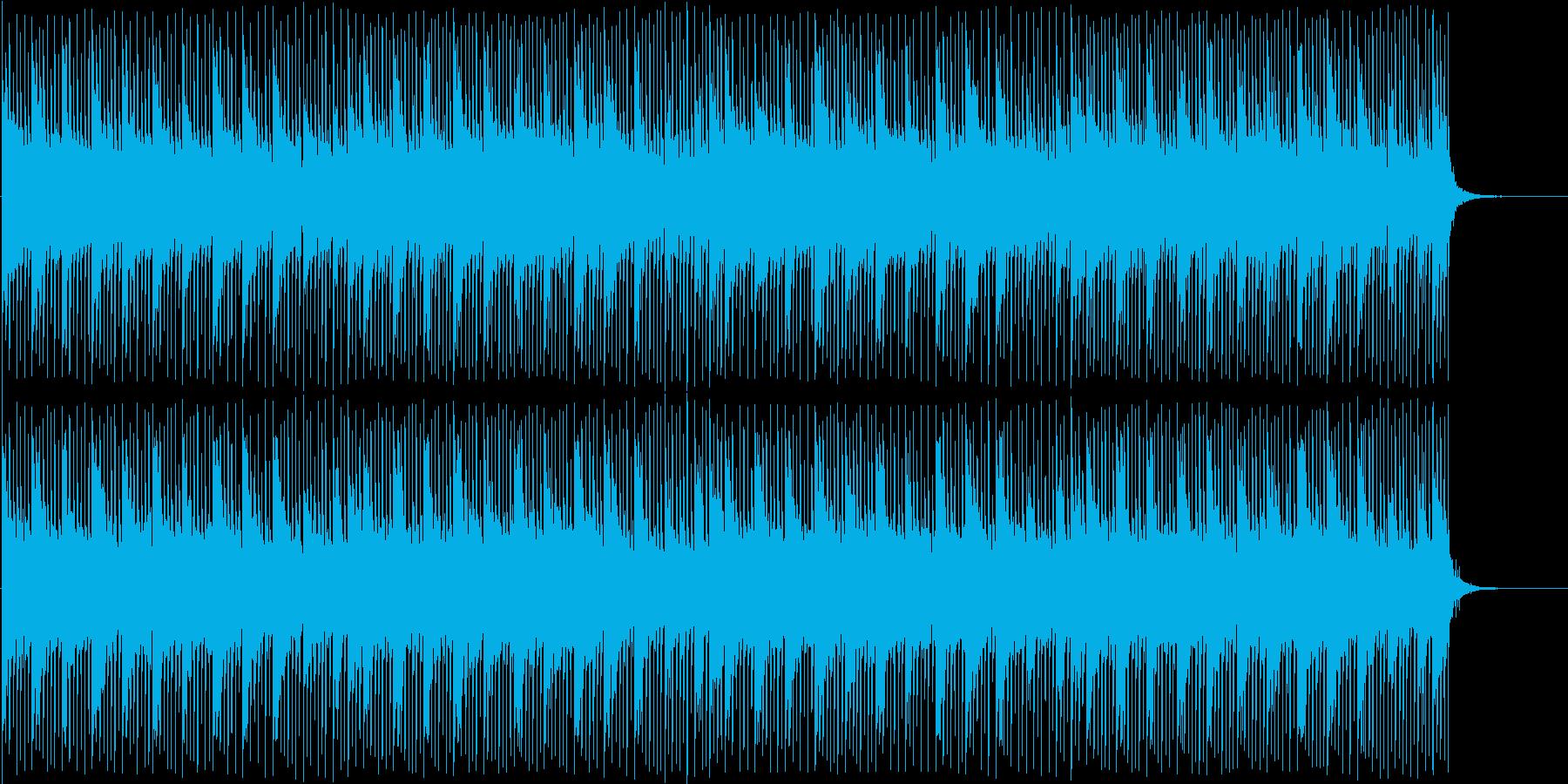 映像向け 軽快な感じのエレクトロの再生済みの波形