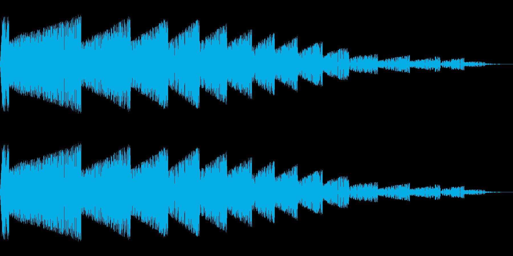 バシーン(爆発/ノイズ/爆風/嵐/攻撃の再生済みの波形