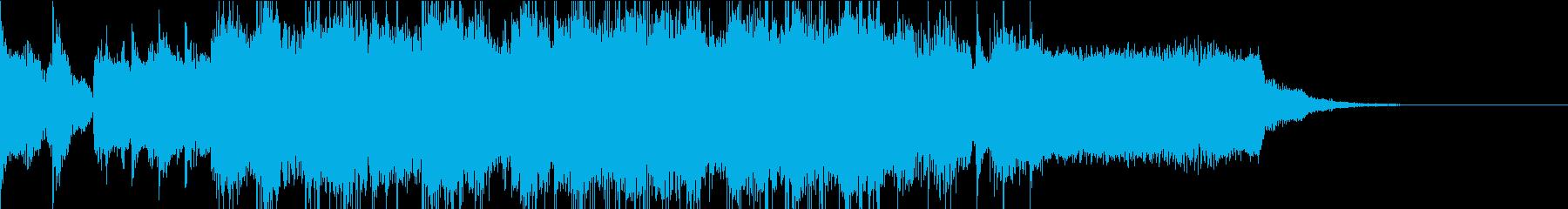 アメリカンなハードロック風のジングルの再生済みの波形