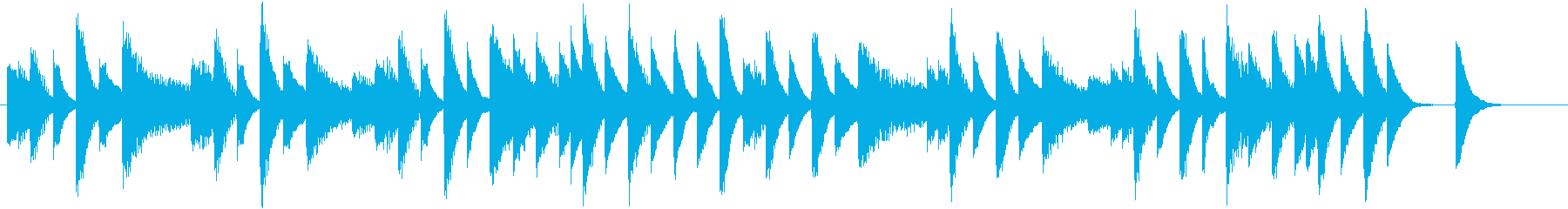 メロディが可愛く飛び回る春ピアノジングルの再生済みの波形