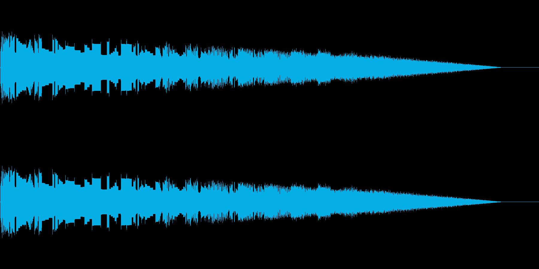 レトロゲーム風魔法・炎系1の再生済みの波形