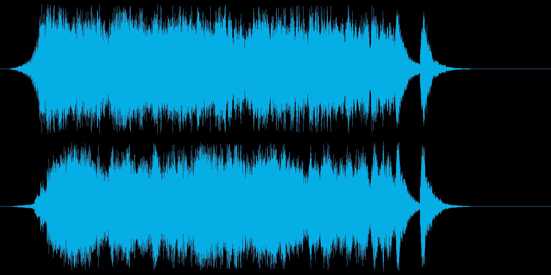 ファンファーレとオーケストラの再生済みの波形