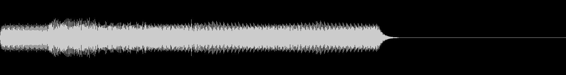 レトロゲーム風のゲームオーバー音の未再生の波形