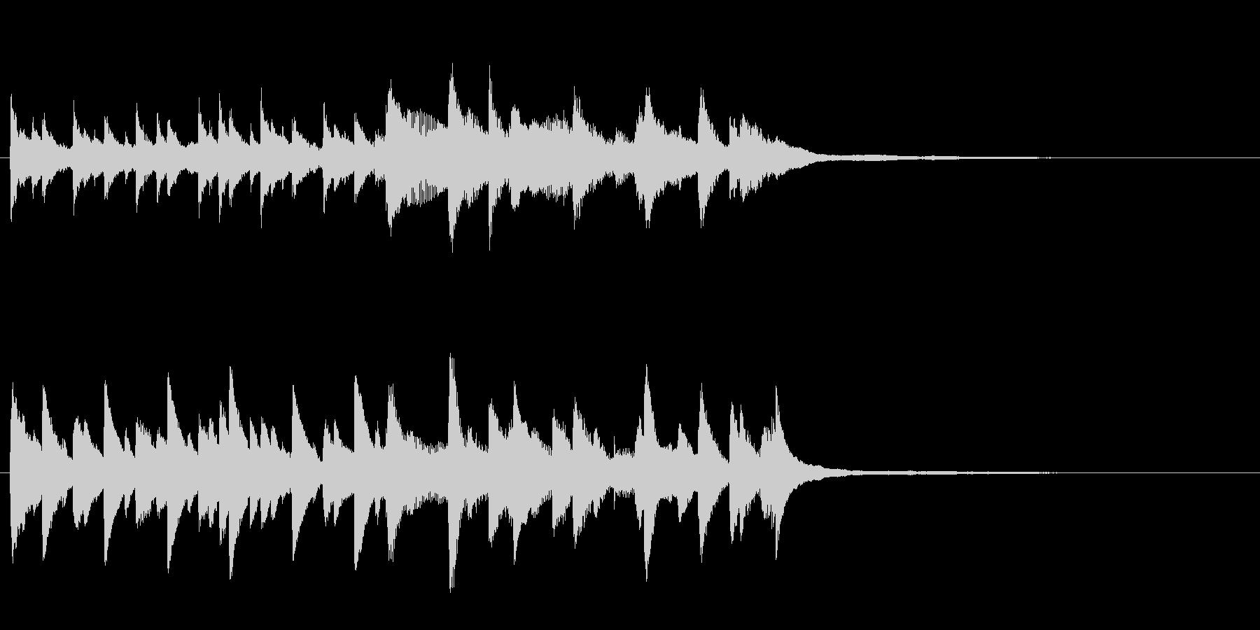 らんらん気分なピアノのオープニングの未再生の波形