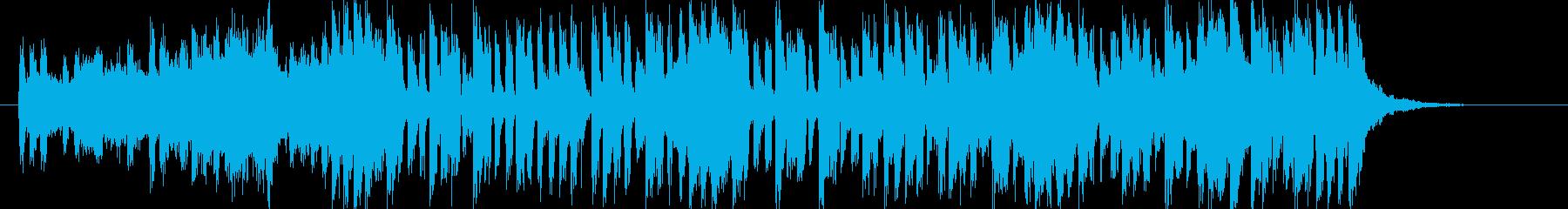 壮大で軽快なシンセポップジングルの再生済みの波形